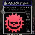 Gears of War Skull D2 Decal Sticker Pink Vinyl Emblem 120x120