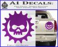 Gears of War Skull D2 Decal Sticker Purple Vinyl 120x97