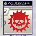 Gears of War Skull D2 Decal Sticker Red Vinyl 120x120
