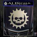 Gears of War Skull D2 Decal Sticker Silver Vinyl 120x120