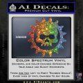 Gears of War Skull D2 Decal Sticker Sparkle Glitter Vinyl 120x120