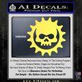 Gears of War Skull D2 Decal Sticker Yelllow Vinyl 120x120