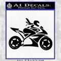 Girl Motorcycle Racing Vinyl Decal Sticker Black Logo Emblem 120x120