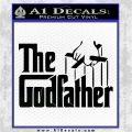 Godfather Film RDZ Decal Sticker Black Logo Emblem 120x120