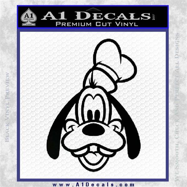 Goofy F1 Decal Sticker Black Logo Emblem