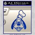 Goofy F1 Decal Sticker Blue Vinyl 120x120