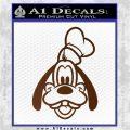 Goofy F1 Decal Sticker Brown Vinyl 120x120