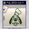 Goofy F1 Decal Sticker Dark Green Vinyl 120x120