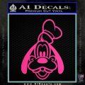 Goofy F1 Decal Sticker Hot Pink Vinyl 120x120