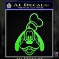 Goofy F1 Decal Sticker Lime Green Vinyl 120x120
