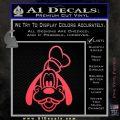 Goofy F1 Decal Sticker Pink Vinyl Emblem 120x120