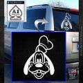 Goofy F1 Decal Sticker White Emblem 120x120