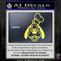 Goofy F1 Decal Sticker Yelllow Vinyl 120x120