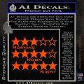 Grand Theft Auto Wanted Stars Orange Vinyl Emblem 120x120