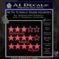 Grand Theft Auto Wanted Stars Pink Vinyl Emblem 120x120