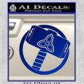 Greek God Hammer Thor Decal Sticker Blue Vinyl 120x120