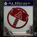 Greek God Hammer Thor Decal Sticker Dark Red Vinyl 120x120