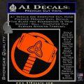 Greek God Hammer Thor Decal Sticker Orange Vinyl Emblem 120x120
