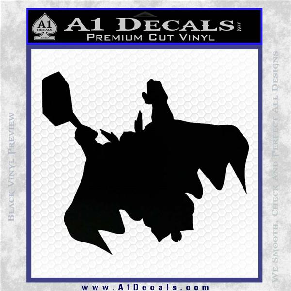 Greek God Thor Decal Sticker Flying Black Logo Emblem