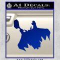 Greek God Thor Decal Sticker Flying Blue Vinyl 120x120