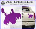 Greek God Thor Decal Sticker Flying Purple Vinyl 120x97