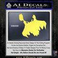 Greek God Thor Decal Sticker Flying Yelllow Vinyl 120x120