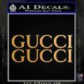 Gucci Decal Sticker 2pk Metallic Gold Vinyl 120x120