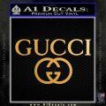 Gucci Logo Decal Sticker D3 Metallic Gold Vinyl 120x120