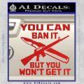 Gun Ban Decal Sticker SQ Red Vinyl 120x120
