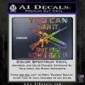 Gun Ban Decal Sticker SQ Sparkle Glitter Vinyl 120x120