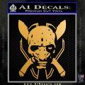 HALO 4 LEGENDARY VINYL DECAL Metallic Gold Vinyl 120x120