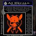 HALO 4 LEGENDARY VINYL DECAL Orange Vinyl Emblem 120x120
