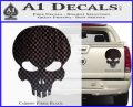 Halo Extermination Skull Logo Vinyl Decal Carbon Fiber Black 120x97