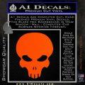 Halo Extermination Skull Logo Vinyl Decal Orange Vinyl Emblem 120x120