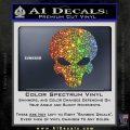Halo Extermination Skull Logo Vinyl Decal Sparkle Glitter Vinyl 120x120