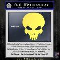 Halo Extermination Skull Logo Vinyl Decal Yelllow Vinyl 120x120