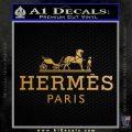 Hermes Logo Decal Sticker Metallic Gold Vinyl 120x120