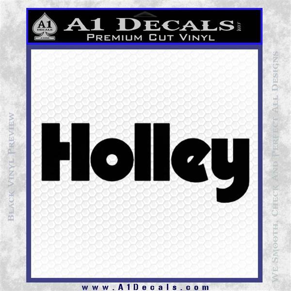 Holley Logo Decal Sticker VZL Black Logo Emblem
