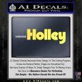 Holley Logo Decal Sticker VZL Yelllow Vinyl 120x120