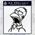 Homer Drool Decal Sticker Simpsons Black Logo Emblem 120x120