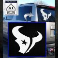 Houston Texans Decal Sticker Logo White Emblem 120x120