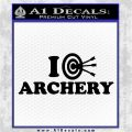 I Love Archery Decal Sticker Target Black Logo Emblem 120x120