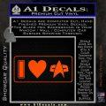 I Love Star Trek Decal Sticker Heart Orange Vinyl Emblem 120x120