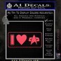 I Love Star Trek Decal Sticker Heart Pink Vinyl Emblem 120x120