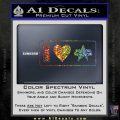 I Love Star Trek Decal Sticker Heart Sparkle Glitter Vinyl 120x120