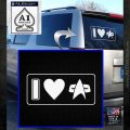 I Love Star Trek Decal Sticker Heart White Emblem 120x120