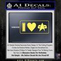 I Love Star Trek Decal Sticker Heart Yelllow Vinyl 120x120