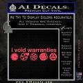 I Void Warranties D2 Decal Sticker Pink Vinyl Emblem 120x120