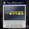 I Void Warranties D2 Decal Sticker Yelllow Vinyl 120x120