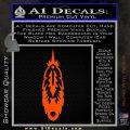 Indian Feather Vinyl Decal Sticker DV Orange Vinyl Emblem 120x120